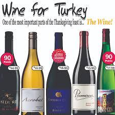 table vine turkey wines