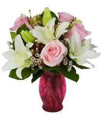 Roses And Lilies Sweetheart Rose And Lily Bouquet At From You Flowers