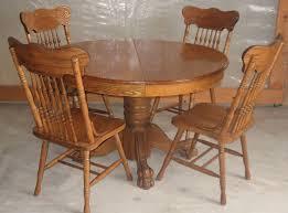 Table Antique Round Oak Pedestal Dining Talkfremont - Antique round kitchen table