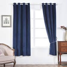 Premium Curtains Blackout Curtains Premium Velvet 52 X96 Navy Blue Pack Of 2