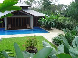 decorative tropical landscape ideas for modern home design with
