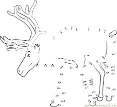 reindeer shyness dot dot printable worksheet connect dots