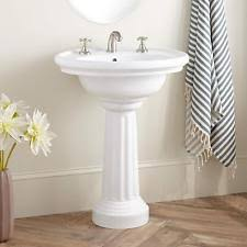 Foremost Series 1920 Pedestal Sink Waterworks Palladio Pedestal Sink In White Ebay