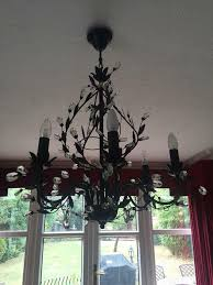 Black Metal Chandeliers Metal Chandeliers Second Hand Lighting Buy And Sell In The Uk