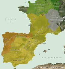 Rit Campus Map Map Of The Visigoth And Suevi Kingdoms In Ad 470