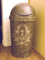 kitchen trash can ideas make a plastic garbage can look high end hometalk