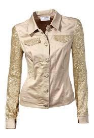 designer jacke designer jacke mit pailletten beige gold blazer jacken mäntel