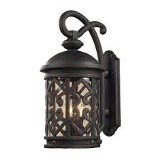Lantern Wall Sconce Rustic Lighting The Home Depot