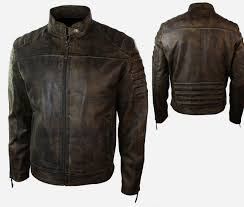 armored leather motorcycle jacket biker mens retro vintage biker motorcycle jacket distressed real