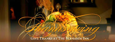 thanksgiving at the bernards inn