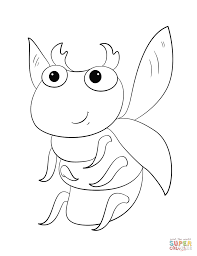cute cartoon bug coloring page free printable coloring pages