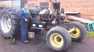 lexus v8 conversion kits fordson major v8 conversion first start in tractor youtube