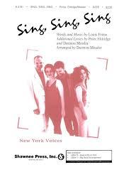 sing sing sing with a swing louis prima louis prima sing sing sing satb piano presto sheet