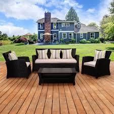Atlantic Patio Furniture Sectional Patio Conversation Sets Outdoor Lounge Furniture