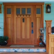 How To Build A Solid Wood Door Custom Wood Doors Saratoga Woodworks Craftsman Style Inspired