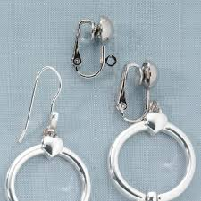 how to convert clip on earrings to pierced fish hook earring converter earring converters kimball