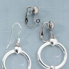clip on earring converter fish hook earring converter earring converters kimball