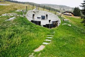 7 stunning homes built into hillside building plans online 15656