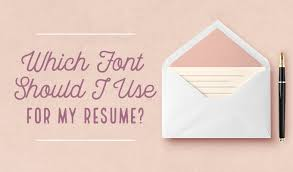 which font should i use for my resume creative market