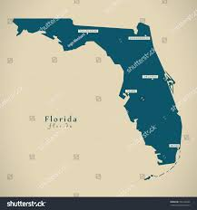 Florida Usa Map by Modern Map Florida Usa Federal State Stock Illustration 563146642
