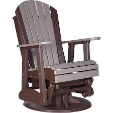 Trex Rocking Chair Reviews Home Luxcraft Adirondack 2 U0027 Recycled Plastic Swivel Glider Rocking