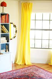 diy yellow curtains for the playroom little green notebook
