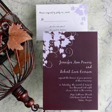 vineyard wedding invitations cheap classic plum winery wedding invitations ewi015 as low as 0 94