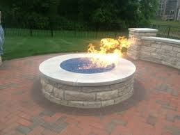 Firepit Images Custom Pit Conversion To Fireglass Exsisting Pit