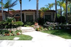 palm tree landscaping with shrubs metal roof boulder landscape bushes
