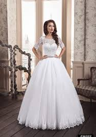 wedding dress lace sleeves eb022 gown wedding dress with an illusion neckline and lace