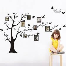 aliexpress com buy large tree wall sticker photo frame family aliexpress com buy large tree wall sticker photo frame family diy vinyl 3d wall stickers home decor living room wall decals tree big black poster from