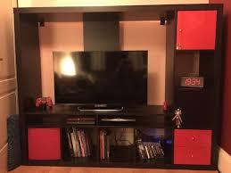 Ikea Lappland Tv Storage Unit Tv Storage Unit Lappland Black Red From Ikea In Leith Edinburgh