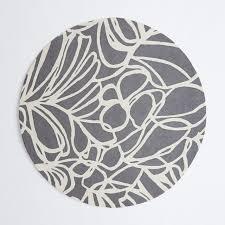 Circular Wool Rugs Uk Sketch Round Wool Rug Steel West Elm