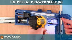 rockler universal drawer slide jig youtube