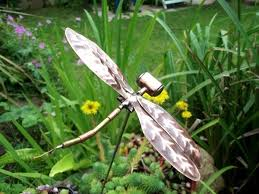 copper dragonfly garden ornament folksy
