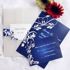 Cheap Wedding Invitations And Rsvp Cards Royal Blue Wedding Invitations Card Wedding Decor Theme