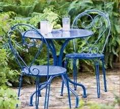 Blue Bistro Chairs Stylish Cafe Style Outdoor Furniture Outdoor Paris Bistro Chairs