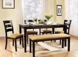 farmhouse dining table with bench seating exquisite patio small