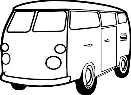 coloring page for van van minibus coloring page wecoloringpage