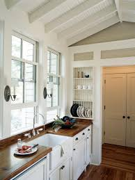kitchen style french white country kitchen butcher block