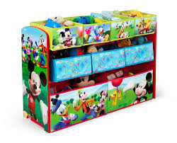 mickey mouse clubhouse flip open sofa with slumber amazon com delta children disney mickey mouse deluxe multi bin toy