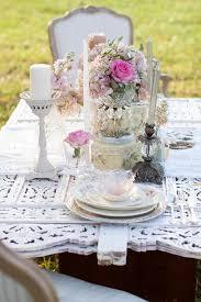 Wedding Table Setting Pink U0026 Shabby Chic Wedding Table Setting 2032820 Weddbook