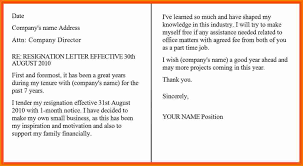 Resignation Letter Example 4 Resignation Letter Sample One Month Notice Period Expense Report