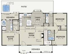3 Bedroom Open Floor House Plans Ranch House Open Floor Plans Open Floor Plan Ranch Hwbdo75947