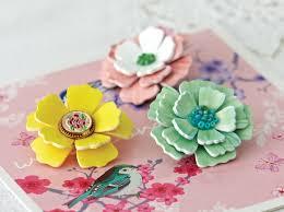 plastic flowers shrink plastic flower brooch diy accessories
