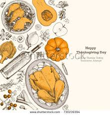 thanksgiving day top view vector illustration stock vector 730239394