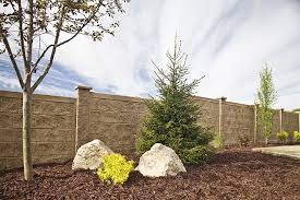 Backyard Wall Rhino Rock Concrete Fence Walls