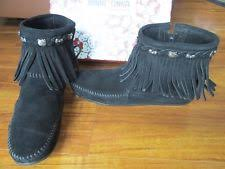 womens fringe boots size 9 hello boots ebay