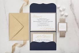 amazon com navy blue and gold glitter wedding invitation elegant