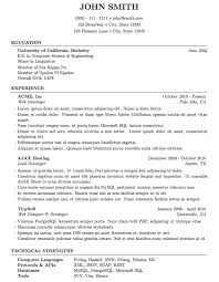 Computer Science Resume Sample by Latex Templates Curricula Vitae Résumés